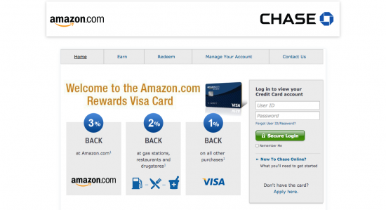 Amazon Credit Card - Login 1